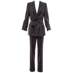 Maison Martin Margiela Artisanal Charcoal Grey Duct Tape Pantsuit, Fall 2009