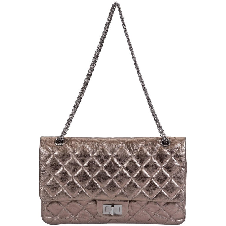 16806d9e8e86 Chanel Metallic Bronze Jumbo Reissue Bag For Sale at 1stdibs