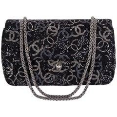 Neue Chanel Strass CC Logo Überschlagtasche