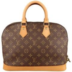 Louis Vuitton Handbag Brown Monogram Canvas and Leather Alma PM Bag