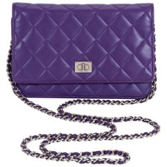 Chanel Reissue Purple Wallet On A Chain Bag