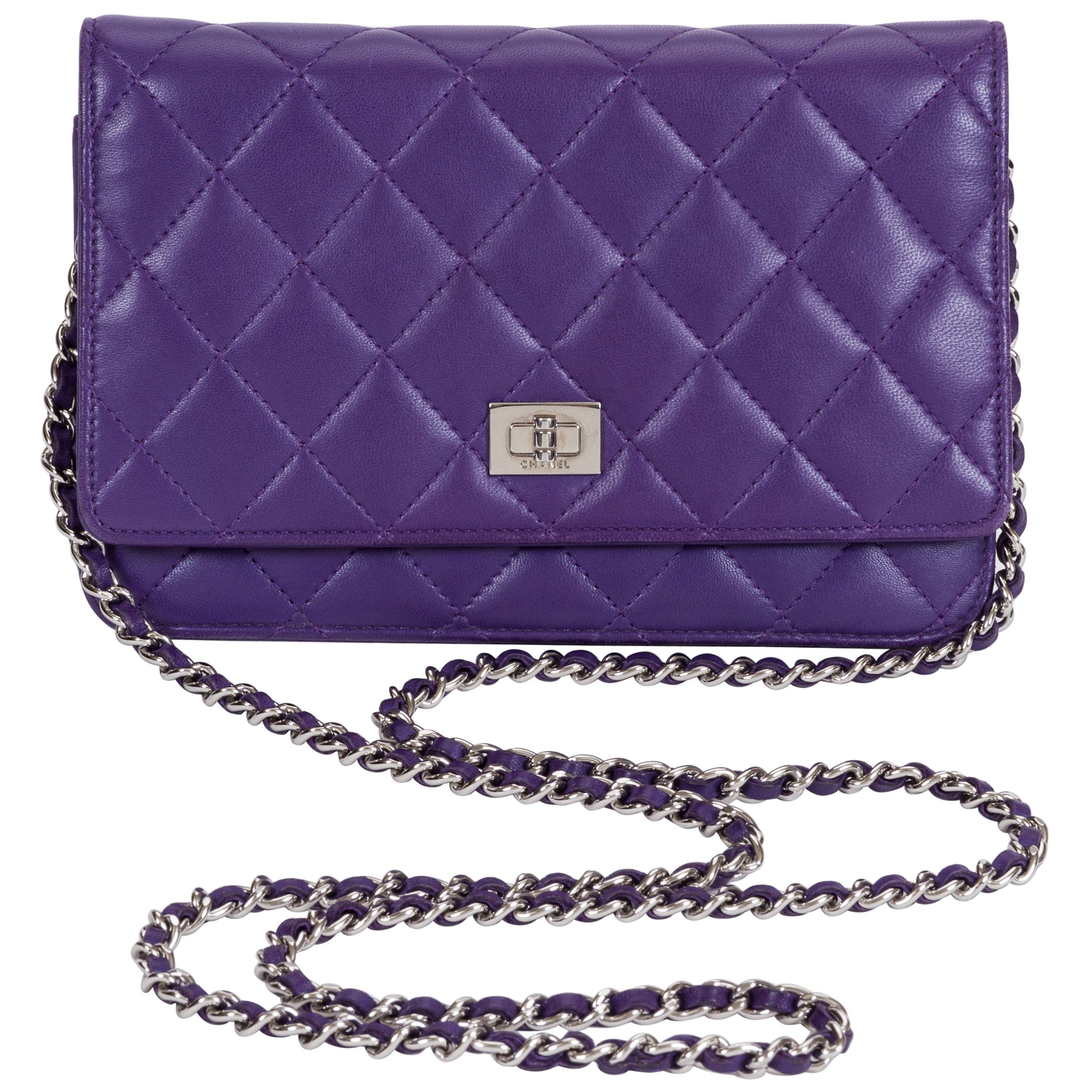 1898946072e6 Chanel Reissue Purple Wallet On A Chain Bag at 1stdibs