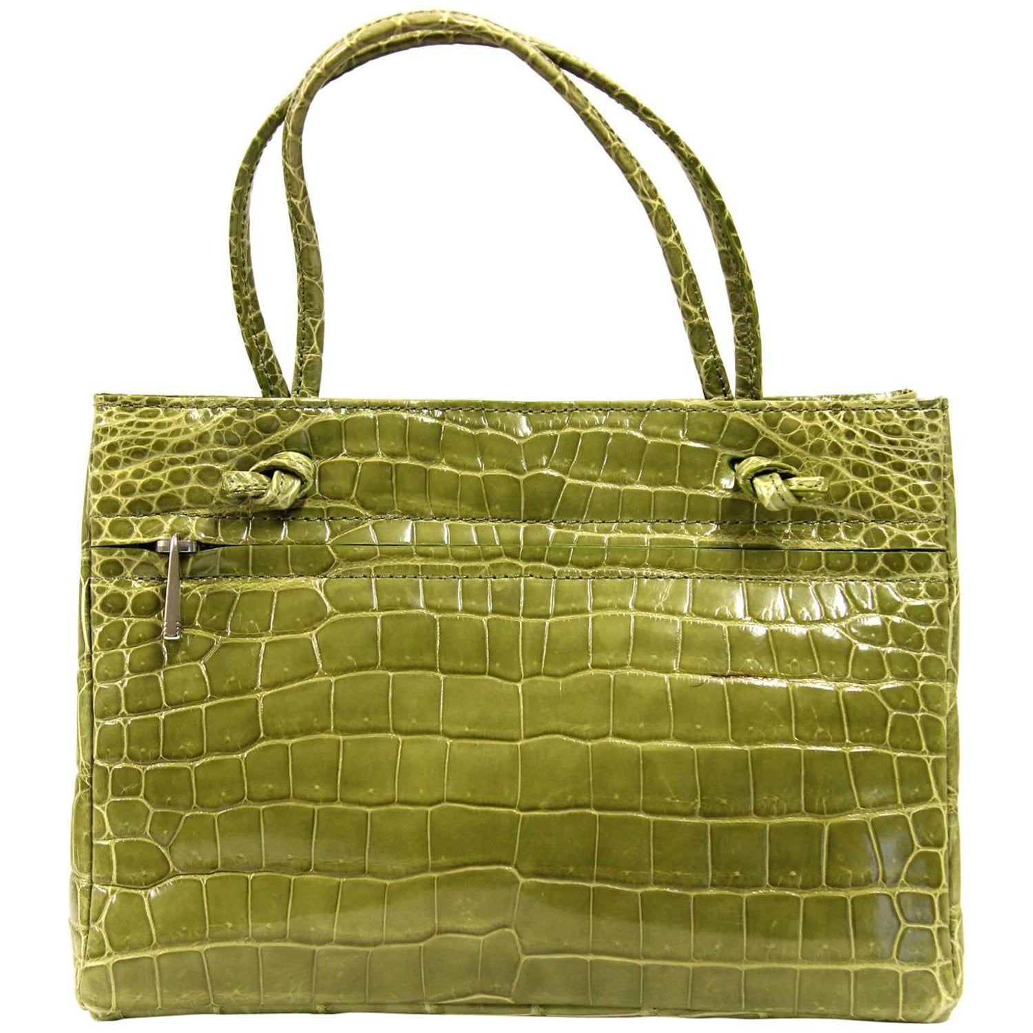 57169d26fc2 Colombo Green Crocodile Leather Vintage Bag, 2000s For Sale at 1stdibs