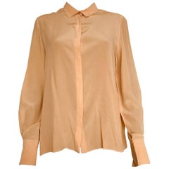 Chloe yellow silk blouse
