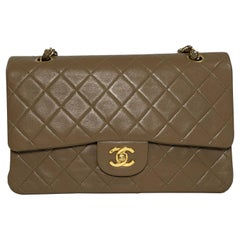 Chanel Lambskin Leather Matelasse Medium Double Flap in Beige