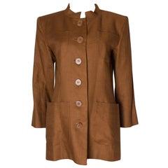 Vintage Yves Saint Laurent Rive Gauche Linen Jacket