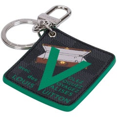 New in Box Louis Vuitton Green Valise Bag Charm Keychain