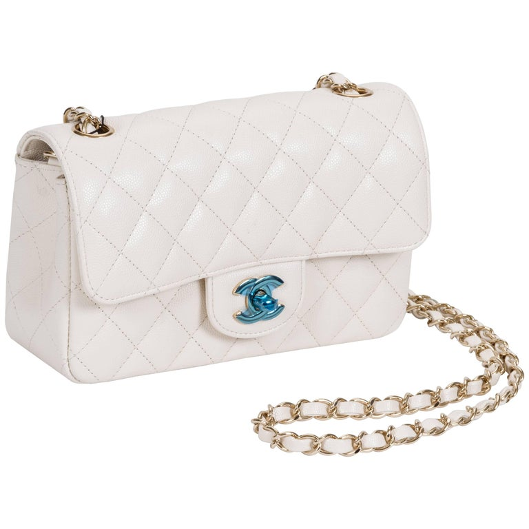 0164f43b834a3c New Chanel White Caviar Mini Crossbody Bag at 1stdibs