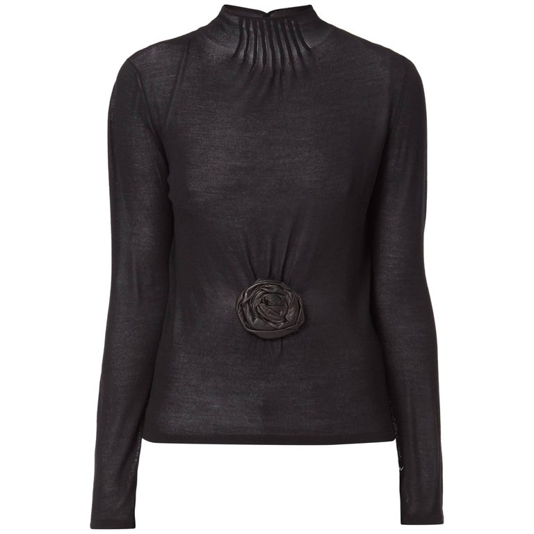 Tom Ford knit top with flower, Autumn/Winter 1999