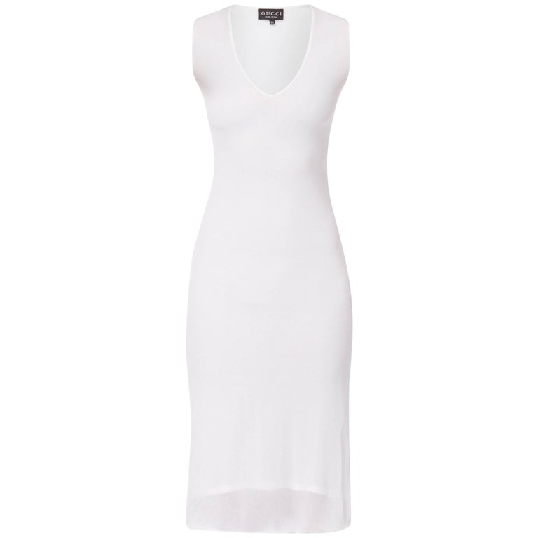 Tom ford white sleeveless dress, Spring/Summer 1998
