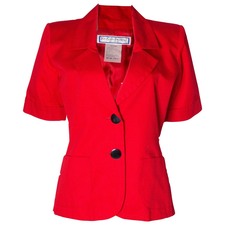 Vintage Yves Saint Laurent Red Jacket