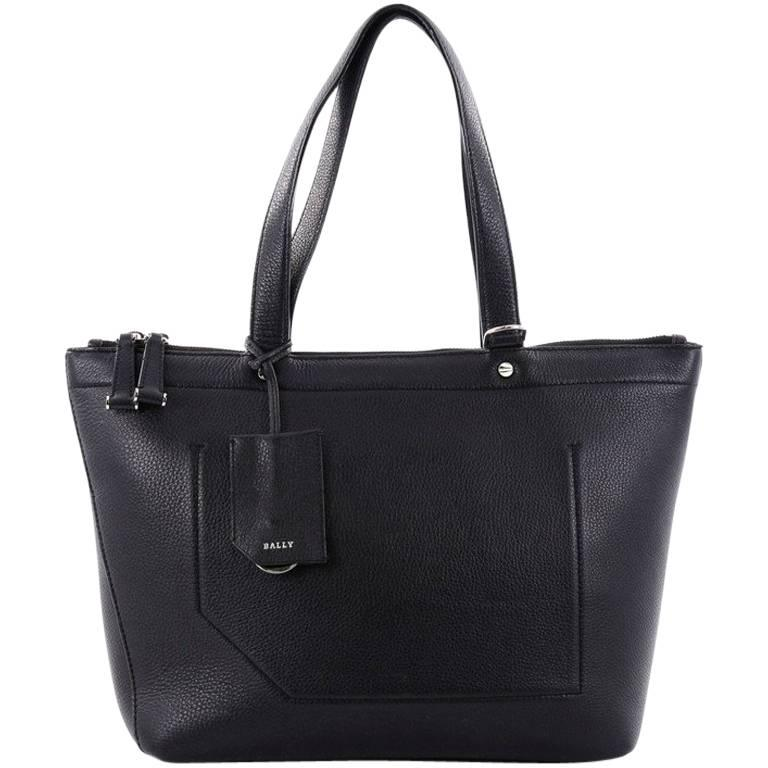 Bally Convertible Tote Leather Medium