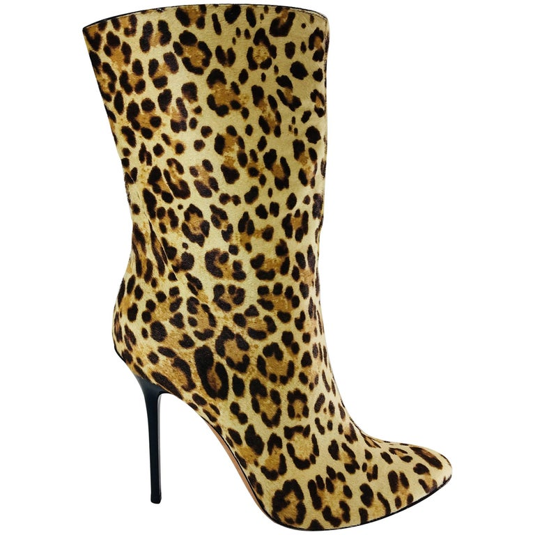 Jimmy Choo Pony Hair Mid Calf Boots