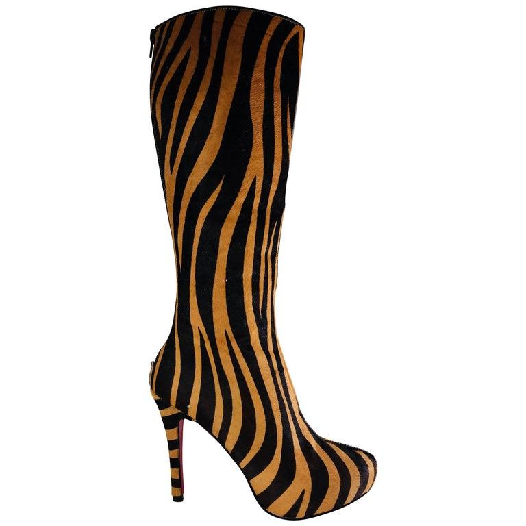 Christian Louboutin Calf Hair Boots