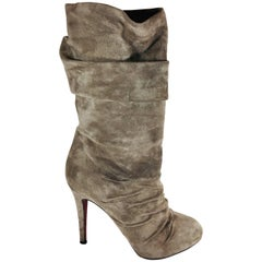 Christian Louboutin Gathered Mid Calf Boots