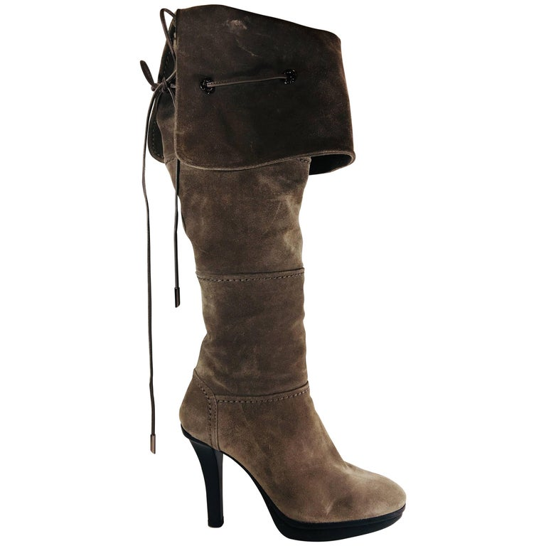 5199d1b503 Tods Thigh High Boots For Sale at 1stdibs