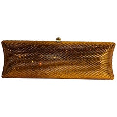 Yellow Gold Rhinestone Clutch