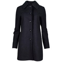 Vera Wang Charcoal Grey Wool Coat sz S