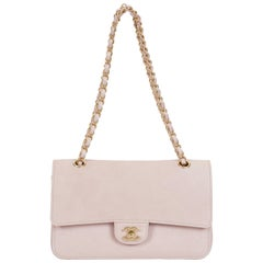 New Chanel Powder Pink Double Flap Bag