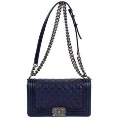 Chanel Medium Caviar Navy Boy Bag