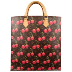 Louis Vuitton Takashi Murakami Brown Cherry Cerises Sac Plat Tote Bag