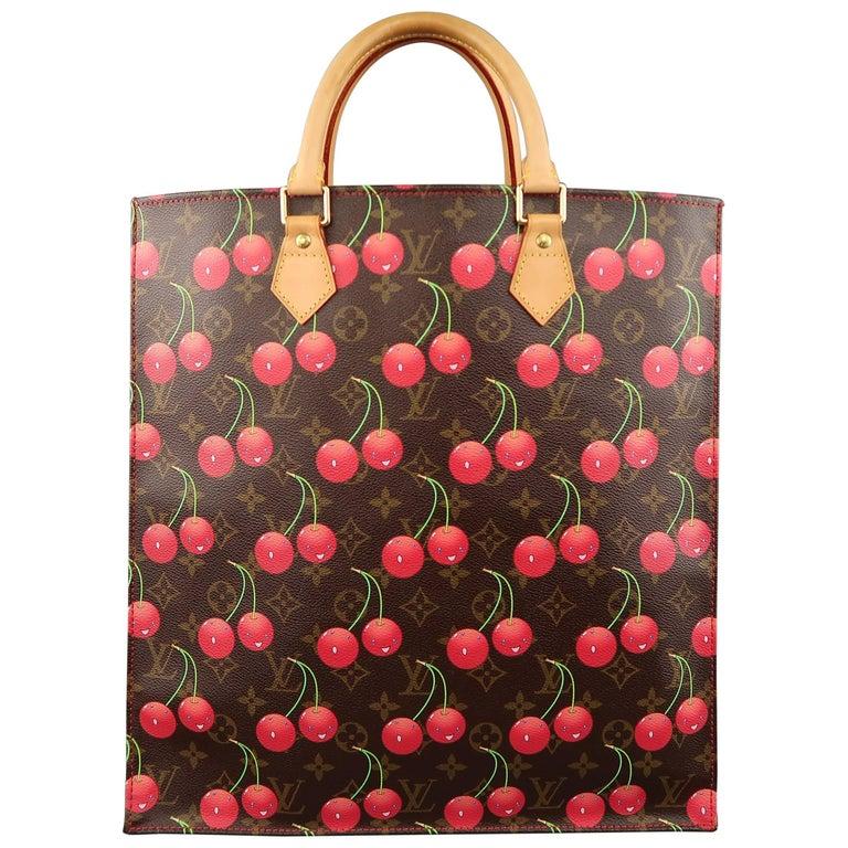 44f0967faf4f Louis Vuitton Takashi Murakami Brown Cherry Cerises Sac Plat Tote Bag For  Sale