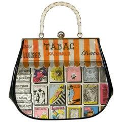 Garay Novelty Handtasche mit Kiosk Druck Stoff