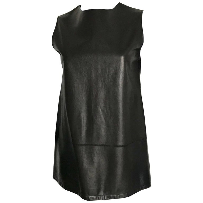 Hermes leather tunic