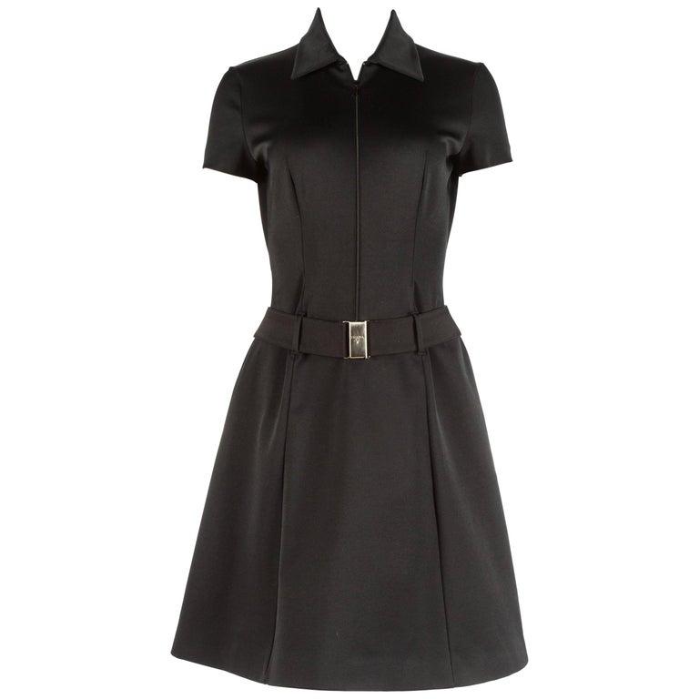 Prada black nylon belted dress, Autumn-Winter 1995