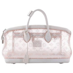 Louis Vuitton Transparence Lockit Handbag Mesh and Leather