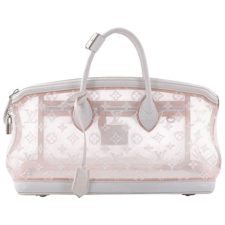 Louis Vuitton Transparence Lockit Handbag Mesh and Leather  For Sale