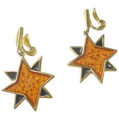 Yves Saint Laurent Star Earrings, 1980s