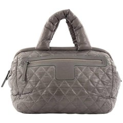 Chanel Coco Cocoon Quilted Nylon Bowling Bag