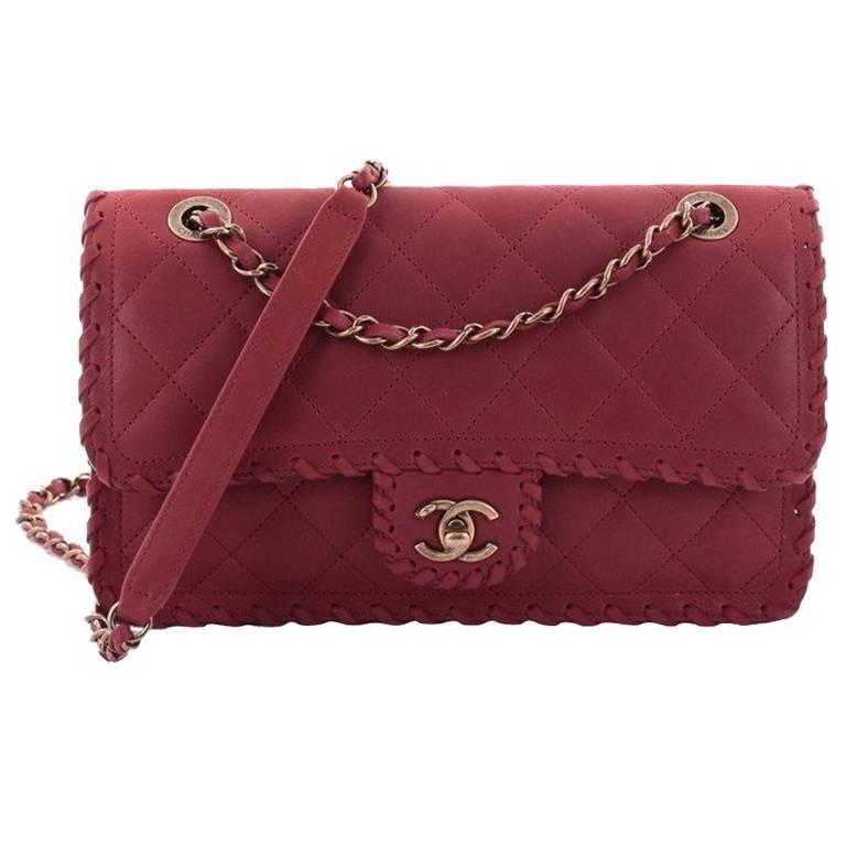 1681c49446f4 Chanel Happy Stitch Flap Bag Quilted Velvet Calfskin Medium at 1stdibs