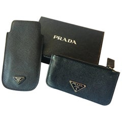Prada 2 Piece Phone and Coin Wallet Set