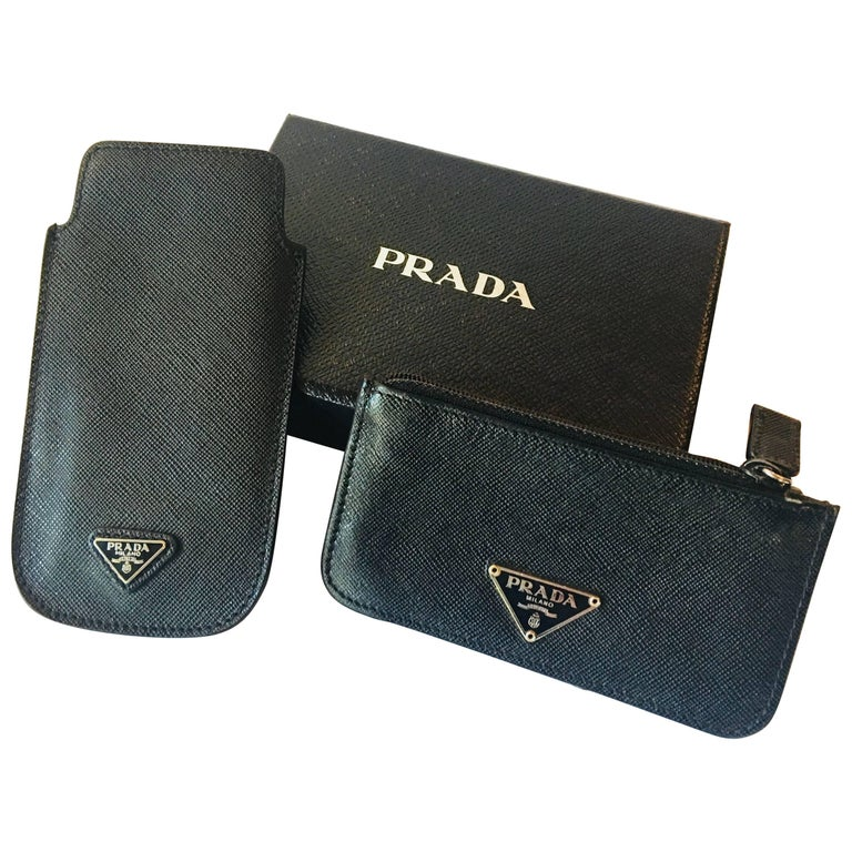 Prada 2 Piece Phone and Coin Wallet Set
