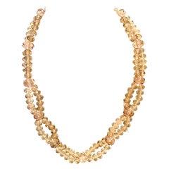 20th Century Art Glass Bead Choker Style Necklace