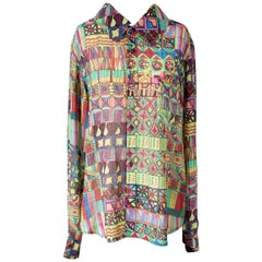 Comme Des Garcons Colorful Graphic Print Button Down