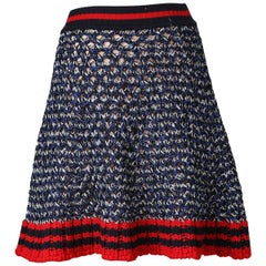 Gucci Knit Varsity Skirt, 2017