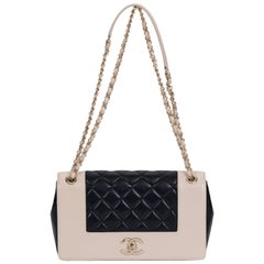 New Chanel Two Tone Classic Flap Bag