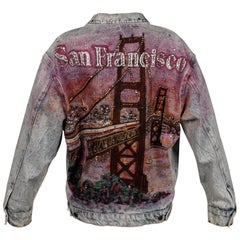 Tony Alamo Vintage Hand Painted and Studded San Francisco Denim Jean Jacket