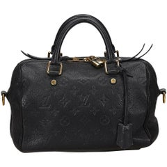 Louis Vuitton Navy Empreinte Speedy 25