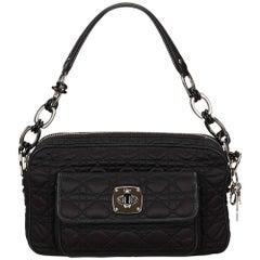 Dior Black Cannage Nylon Shoulder Bag