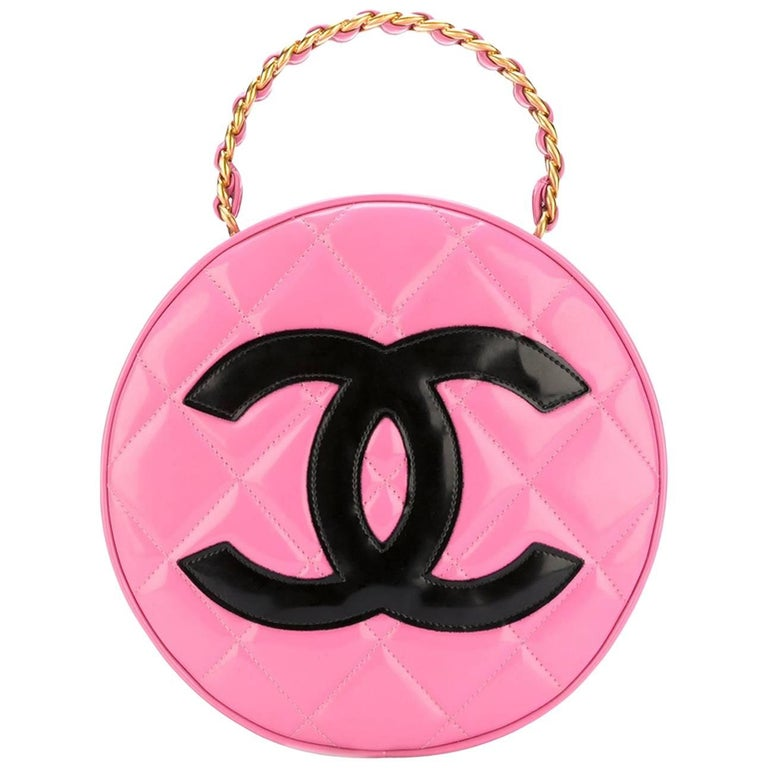 Chanel Pink Patent Leather Bag, 1990s