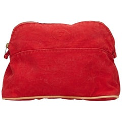 Hermes Red Bolide Pouch