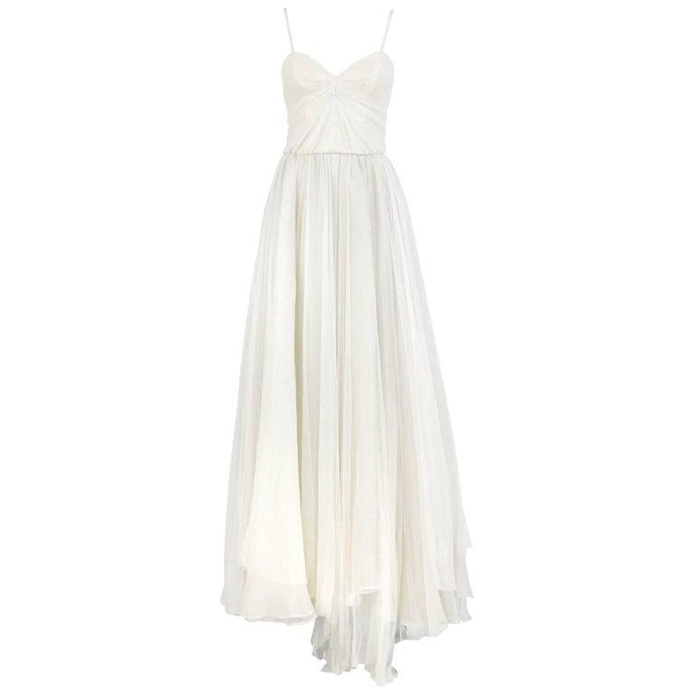 Dolce & Gabbana Silk Vintage Wedding Dress, 2000s For Sale
