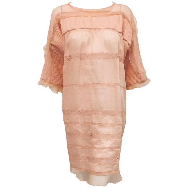 Isabel Marant Peach Ramie and Silk Dress