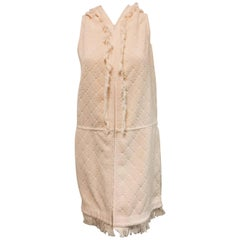 Casual Chanel Peach Pink Cotton Terry Cloth Beach Cover Up