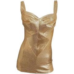 Cole of California Gold Lamé Bathing Suit, 1950s