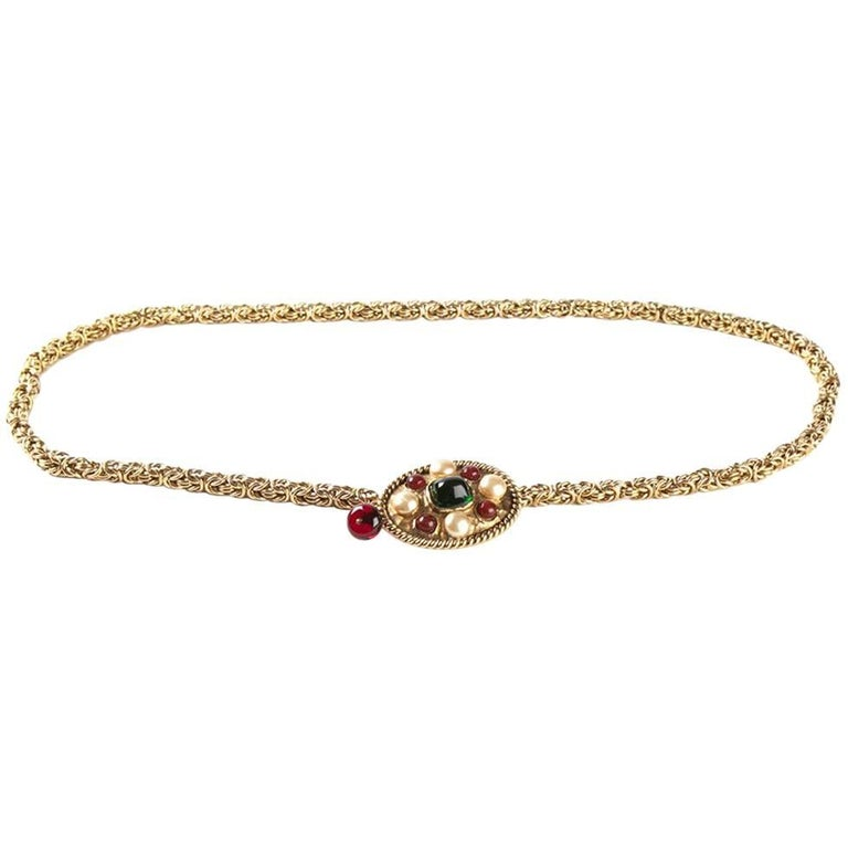 Chanel Golden Metal Chain Vintage Belt, 1980s